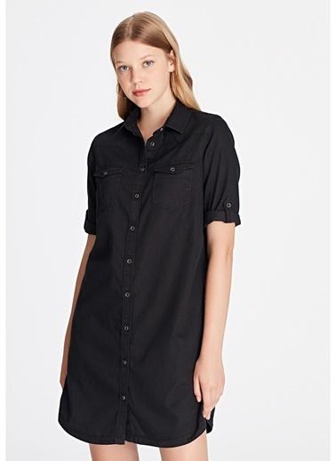 Mavi Mavi Bree Black Used Denim Elbise Renksiz